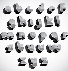 3d futuristic font geometric dimensional letters vector image