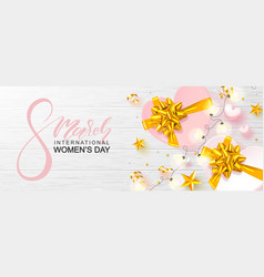 8 march happy women s day banner beautiful vector