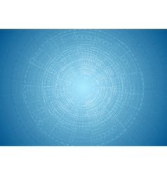 Abstract bright blue tech engineering background vector