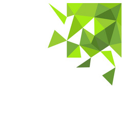 abstract modern green triangle background vector image