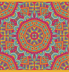 abstract vintage ethnic seamless pattern vector image