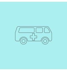 Ambulance icon vector