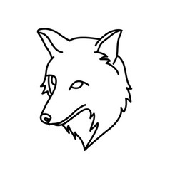 Animal fox icon design clip art line icon vector