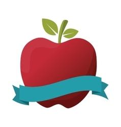 Apple fruit label vector