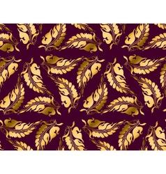 Art Nouveau style purple pattern vector