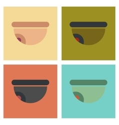 Assembly flat icons security camera vector