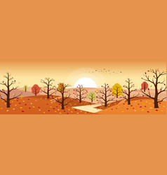 autumn countryside landscape with river vector image