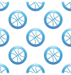 Basketball sign pattern vector image