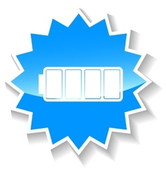 Battery blue icon vector