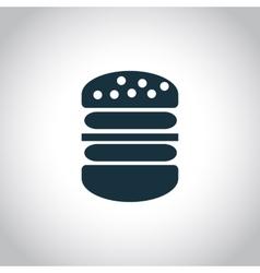 Big hamburger icon vector image