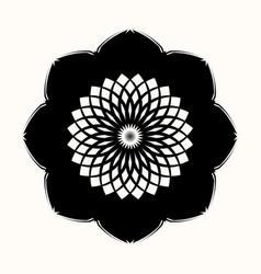 black flower 0003 vector image
