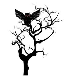 Black Owl3 vector image