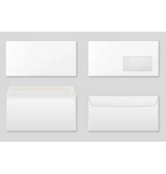 Blank paper envelopes vector