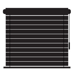 blinds icon on white background flat style vector image