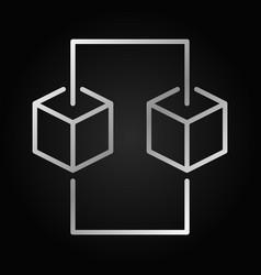 blockchain line silver concept icon design vector image