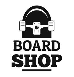 board shop logo simple style vector image
