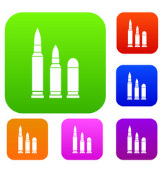 bullets set collection vector image