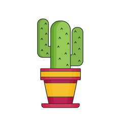 cactus flat icon vector image