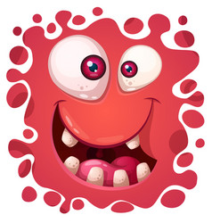 Cartoon funny cute monster face vector