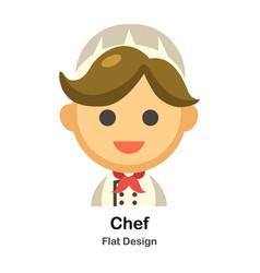 Chef flat vector