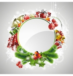christmas with gift boxes vector image vector image