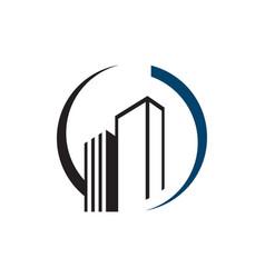 Cityscape design corporation buildings logo vector