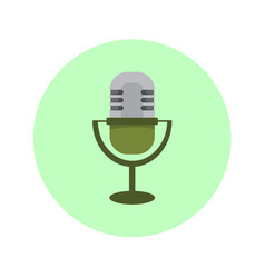 Classic microphone icon graphic vector