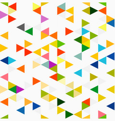 colorful triangle geometric pattern seamless vector image