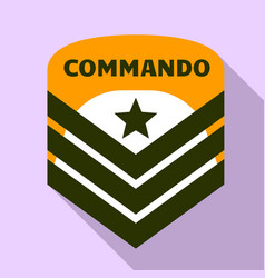 Commando air star logo flat style vector