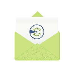 Concept earth hour in envelope vector image