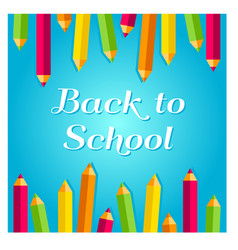 concept for 1st september back to school idea vector image