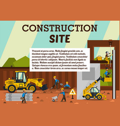construction site the vector image