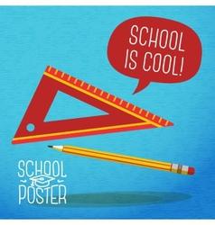 Cute school college university poster - pencil vector image