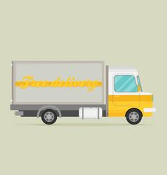 delivery transport old truck van flat vector image