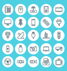 Device icons set collection of monitor gadget vector