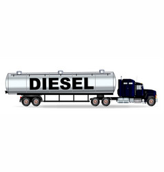 Diesel tanker truck vector