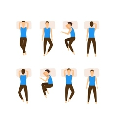 Different Sleeping Poses Set vector