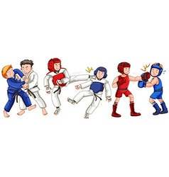Different sports for martial arts vector