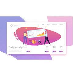 Digital marketing analysis report landing page vector