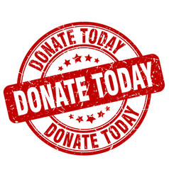 Donate today stamp vector