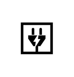 electric plug logo graphic design template vector image