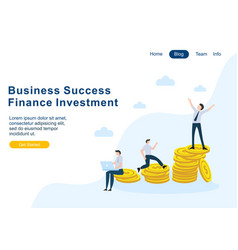flat design web page templates of finance busines vector image