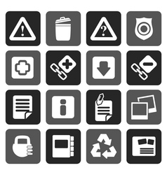 Flat Web site and computer Icons vector image