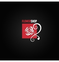 Flower rose shop concept design background vector