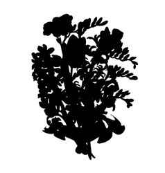 Flowers bouquet silhouette vector