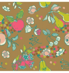fruit garden seamless pattern vector image