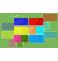 Glass menu vector image