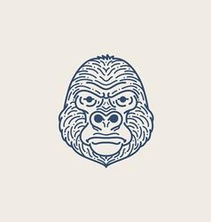 Gorilla Flat Line vector