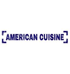 Grunge textured american cuisine stamp seal vector