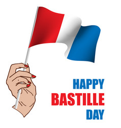 happy bastille day vector image
